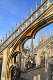 Η στέγη του Di Μιλάνο Duomo καθεδρικών ναών του Μιλάνου Στοκ Εικόνα