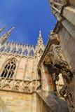 Η στέγη του Di Μιλάνο Duomo καθεδρικών ναών του Μιλάνου Στοκ Φωτογραφίες