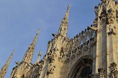 Η στέγη του Di Μιλάνο Duomo καθεδρικών ναών του Μιλάνου Στοκ εικόνα με δικαίωμα ελεύθερης χρήσης