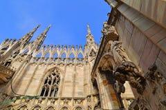Η στέγη του Di Μιλάνο Duomo καθεδρικών ναών του Μιλάνου Στοκ φωτογραφίες με δικαίωμα ελεύθερης χρήσης