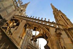 Η στέγη του Di Μιλάνο Duomo καθεδρικών ναών του Μιλάνου Στοκ εικόνες με δικαίωμα ελεύθερης χρήσης
