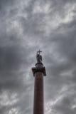 Η στήλη του Αλεξάνδρου, πλατεία Dvortsovaya Στοκ εικόνα με δικαίωμα ελεύθερης χρήσης