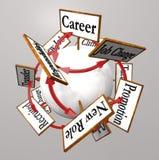 Η σταδιοδρομία υπογράφει την επαγγελματική αλλαγή προώθησης πορειών εργασίας διανυσματική απεικόνιση