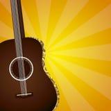 η στενή κιθάρα ανασκόπησης απομόνωσε επάνω το λευκό Στοκ εικόνες με δικαίωμα ελεύθερης χρήσης