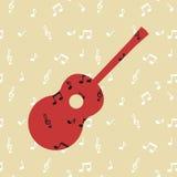 η στενή κιθάρα ανασκόπησης απομόνωσε επάνω το λευκό Στοκ εικόνα με δικαίωμα ελεύθερης χρήσης