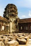 Η στοά γωνιών Angkor Wat σε Siem συγκεντρώνει, Καμπότζη Στοκ Φωτογραφίες