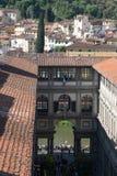 Η στοά Uffizi σε μια ηλιόλουστη ημέρα Άποψη από Palazzo Vecchio Φλωρεντία Ιταλία Τοσκάνη Στοκ εικόνες με δικαίωμα ελεύθερης χρήσης