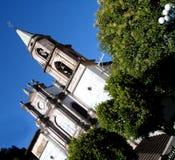 Η στο κέντρο της πόλης εκκλησία Angangueo Michoacan στο Μεξικό Στοκ Εικόνες