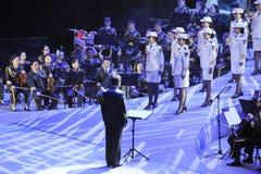 Η στρατιωτική ζώνη και χορωδία-TheFamous και classicconcert Στοκ Φωτογραφίες