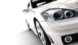 η συγκομιδή αυτοκινήτων ανασκόπησης περιέλαβε εύκολα έξω το μονοπάτι στο διανυσματικό λευκό Στοκ φωτογραφίες με δικαίωμα ελεύθερης χρήσης