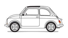 η συγκομιδή αυτοκινήτων ανασκόπησης περιέλαβε εύκολα έξω το μονοπάτι στο διανυσματικό λευκό Στοκ φωτογραφία με δικαίωμα ελεύθερης χρήσης