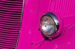 η συγκομιδή αυτοκινήτων ανασκόπησης περιέλαβε εύκολα έξω το ροζ μονοπατιών στο διάνυσμα Στοκ φωτογραφίες με δικαίωμα ελεύθερης χρήσης