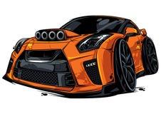 η συγκομιδή αυτοκινήτων ανασκόπησης περιέλαβε εύκολα το πορτοκαλί έξω μονοπάτι στο διάνυσμα Στοκ Φωτογραφίες