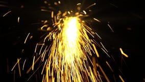 Η συγκόλληση προκαλεί το χρυσό χρώμα μορίων απόθεμα βίντεο