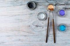 Η συλλογή αποτελεί τα προϊόντα στο ξύλινο υπόβαθρο με το copyspace Στοκ φωτογραφία με δικαίωμα ελεύθερης χρήσης