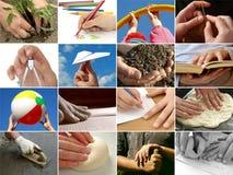 η συλλογή δίνει τον άνθρω&pi Στοκ φωτογραφίες με δικαίωμα ελεύθερης χρήσης
