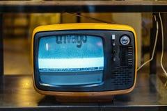 η συλλογή επιμελείται αναδρομικό απλό στο διανυσματικό τρύγο TV Στοκ Εικόνες