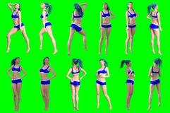 Η συλλογή θέτει των νέων θηλυκών αριθμών στοκ φωτογραφίες με δικαίωμα ελεύθερης χρήσης