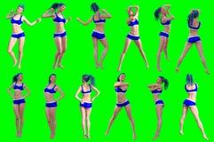 Η συλλογή θέτει των νέων θηλυκών αριθμών στοκ φωτογραφία με δικαίωμα ελεύθερης χρήσης