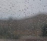 η συλλογή ρίχνει το παράθυρο βροχής φύσης στοκ φωτογραφία