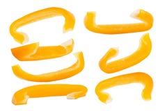Η συλλογή φρέσκου το κουδούνι γλυκών πιπεριών πέρα από το λευκό στοκ εικόνα με δικαίωμα ελεύθερης χρήσης