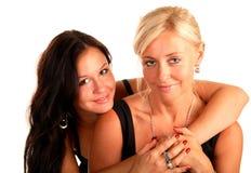 η συμπάθεια κορών αγκαλι Στοκ Εικόνες