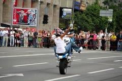 Η συνάντηση ποδηλατών και παρουσιάζει την ημέρα πόλεων του Κίεβου Στοκ Φωτογραφίες