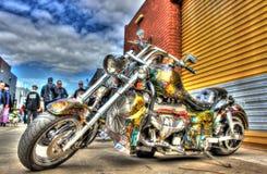 Η συνήθεια σχεδίασε την αμερικανική μοτοσικλέτα Στοκ φωτογραφία με δικαίωμα ελεύθερης χρήσης