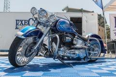 Η συνήθεια του Harley Davidson στην επίδειξη κατά τη διάρκεια του ΑΝΤΙΓΡΑΦΟΥ παρουσιάζει γύρο στοκ φωτογραφίες
