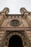 Η συναγωγή οδών Dohany, επίσης γνωστή ως μεγάλη συναγωγή Στοκ Φωτογραφίες