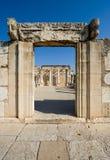 Η συναγωγή Capernaum Στοκ φωτογραφία με δικαίωμα ελεύθερης χρήσης