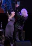 Η συναυλία Brian μπορεί & Kelly Ellis η φωνή ο γύρος Στοκ Εικόνες