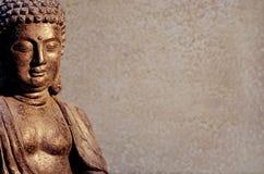 Η συνεδρίαση αγαλμάτων του Βούδα στην περισυλλογή θέτει στο θολωμένο κλίμα στοκ εικόνες με δικαίωμα ελεύθερης χρήσης