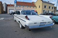Η συνεδρίαση των αυτοκινήτων AM μέσα (desoto του 1960) Στοκ Εικόνα
