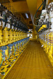 Η συσκευή αποστολής σημάτων πίεσης στη διαδικασία πετρελαίου και φυσικού αερίου, στέλνει το σήμα στον ελεγκτή και την πίεση ανάγν Στοκ φωτογραφία με δικαίωμα ελεύθερης χρήσης