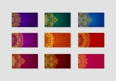 η συλλογή επαγγελματικών καρτών σχεδιάζει εύκολα editable τρία Στοκ φωτογραφία με δικαίωμα ελεύθερης χρήσης
