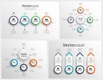 Η συλλογή ζωηρόχρωμου infographic μπορεί να χρησιμοποιηθεί για το σχεδιάγραμμα ροής της δουλειάς, διάγραμμα, επιλογές αριθμού, σχ Στοκ εικόνες με δικαίωμα ελεύθερης χρήσης