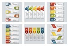 Η συλλογή 6 σχεδιάζει τα ζωηρόχρωμα πρότυπα παρουσίασης Διανυσματική ανασκόπηση ελεύθερη απεικόνιση δικαιώματος