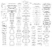 Η συλλογή των εκλεκτής ποιότητας διαιρετών, πλαίσια, swashes και ακμάζει διανυσματική απεικόνιση