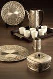 Η συλλογή Atiya του κιβωτίου, του δοχείου και του πιάτου χαλκού στοκ φωτογραφία με δικαίωμα ελεύθερης χρήσης