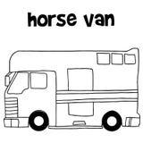 Η συλλογή horse van hand σύρει Στοκ φωτογραφία με δικαίωμα ελεύθερης χρήσης