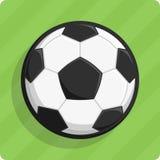 η σφαίρα απομόνωσε το λαμπρό διάνυσμα ποδοσφαίρου Στοκ εικόνα με δικαίωμα ελεύθερης χρήσης