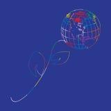 Η σφαίρα είναι ένα σύμβολο του πλανήτη Γη μας στη μορφή Στοκ φωτογραφία με δικαίωμα ελεύθερης χρήσης