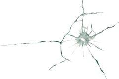 Η σφαίρα διαπέρνησε το γυαλί Στοκ φωτογραφία με δικαίωμα ελεύθερης χρήσης