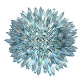 Η σφαίρα κρυστάλλου με τις οξείες στήλες Στοκ φωτογραφίες με δικαίωμα ελεύθερης χρήσης