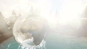 Η σφαίρα με τους ωκεανούς γυαλιού με τις ομαλές μεταβάσεις ξεπερνά φιλμ μικρού μήκους