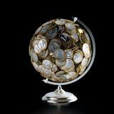 Η σφαίρα νομισμάτων (εννοιολογική εικόνα χρημάτων) Στοκ εικόνες με δικαίωμα ελεύθερης χρήσης