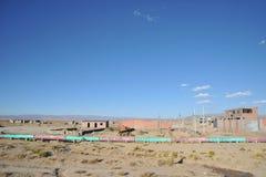 Η σωλήνωση είναι στην απεραντοσύνη του Altiplano Στοκ Εικόνα