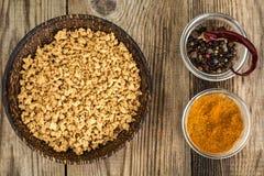 Η σόγια κομματιάζει Υποκατάστατο κρέατος των χορτοφάγων Στοκ Εικόνα