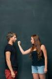 Η σύγκρουση του ζεύγους Στοκ Φωτογραφίες